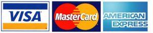 VISA, Mastercard, AE